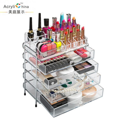 Transparent cosmetic boxes acrylic desktop boxes lipstick skin drawer storage box