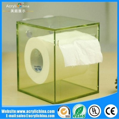 custom made transparent green acrylic tissue box
