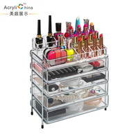 Makeup Storage 4 Drawer Storage Box Clear Acrylic Tiers Display Shelf